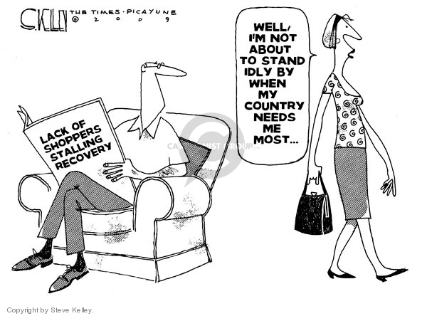 Steve Kelley  Steve Kelley's Editorial Cartoons 2009-08-17 economy