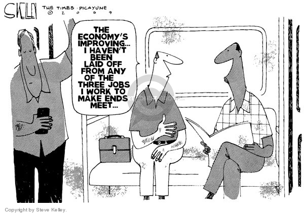 Steve Kelley  Steve Kelley's Editorial Cartoons 2009-08-20 economy