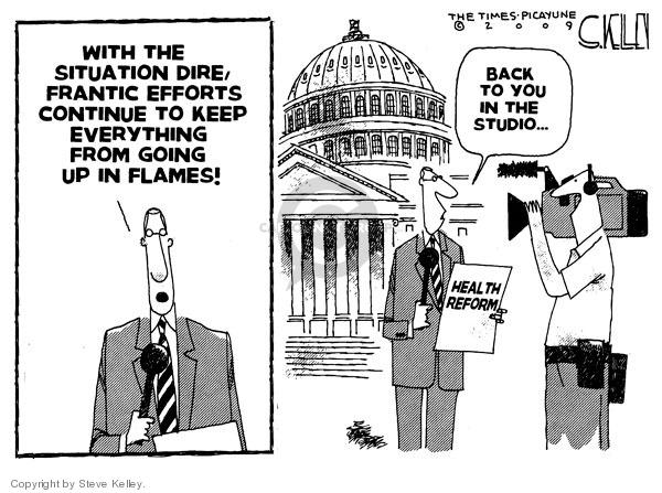 Cartoonist Steve Kelley  Steve Kelley's Editorial Cartoons 2009-09-03 congress health care