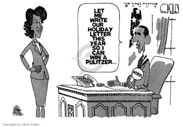 Cartoonist Steve Kelley  Steve Kelley's Editorial Cartoons 2009-10-13 first lady