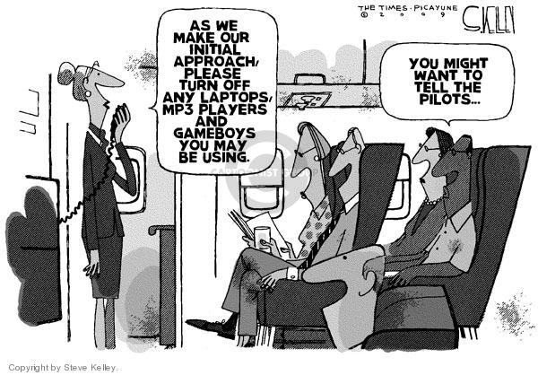 Steve Kelley  Steve Kelley's Editorial Cartoons 2009-10-29 airplane