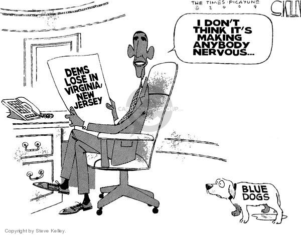 Steve Kelley  Steve Kelley's Editorial Cartoons 2009-11-05 blue