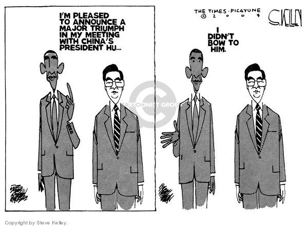 Steve Kelley  Steve Kelley's Editorial Cartoons 2009-11-18 China