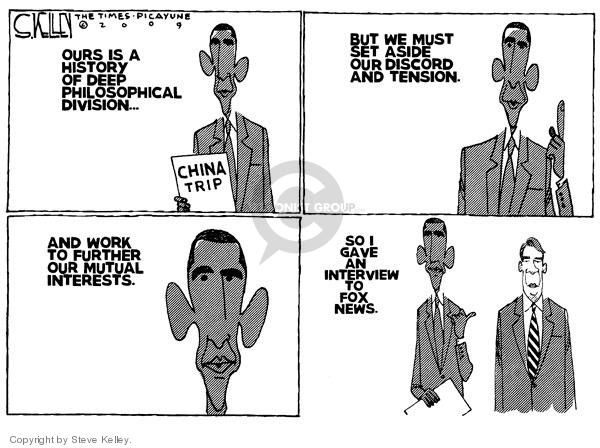 Steve Kelley  Steve Kelley's Editorial Cartoons 2009-11-19 China