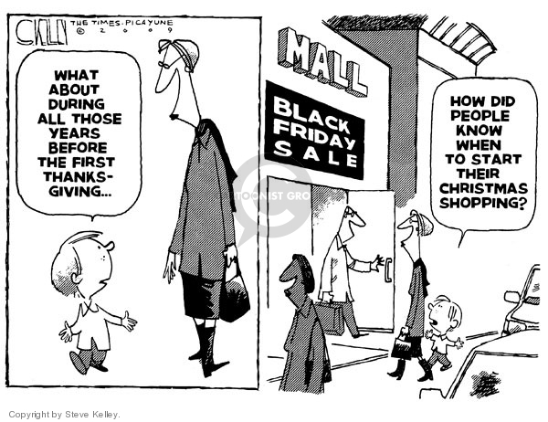 Steve Kelley  Steve Kelley's Editorial Cartoons 2009-11-29 Christmas shopping