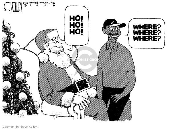 Cartoonist Steve Kelley  Steve Kelley's Editorial Cartoons 2009-12-09 Santa Claus