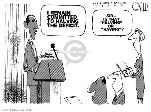 Steve Kelley  Steve Kelley's Editorial Cartoons 2009-12-11 federal budget