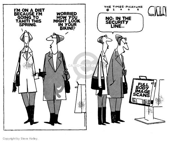 Steve Kelley  Steve Kelley's Editorial Cartoons 2009-12-30 air travel safety