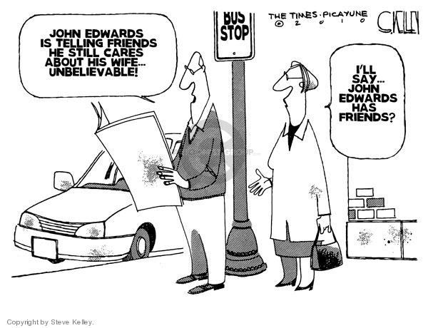 Steve Kelley  Steve Kelley's Editorial Cartoons 2010-01-29 affection