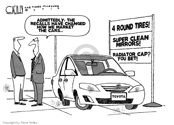 Cartoonist Steve Kelley  Steve Kelley's Editorial Cartoons 2010-02-19 car