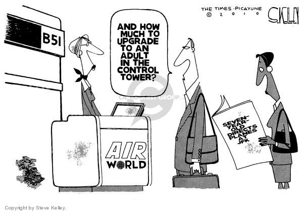 Steve Kelley  Steve Kelley's Editorial Cartoons 2010-03-05 air travel safety