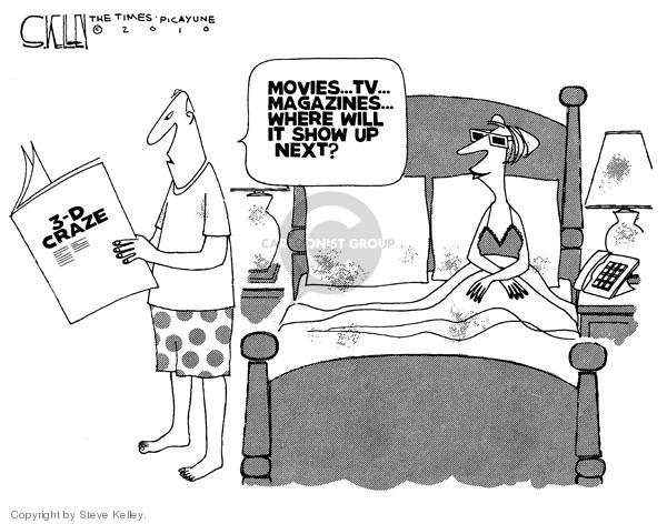 Steve Kelley  Steve Kelley's Editorial Cartoons 2010-03-11 3-D glasses