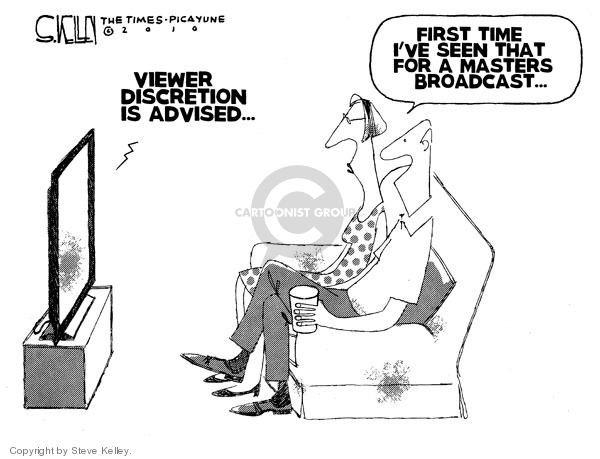 Steve Kelley  Steve Kelley's Editorial Cartoons 2010-03-17 sports television