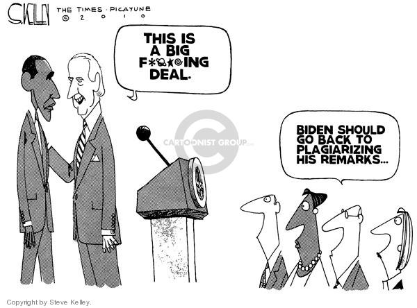 Steve Kelley  Steve Kelley's Editorial Cartoons 2010-03-25 Joe Biden