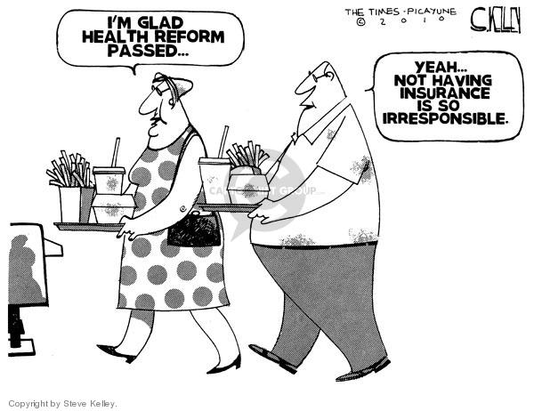 Cartoonist Steve Kelley  Steve Kelley's Editorial Cartoons 2010-03-30 fast food