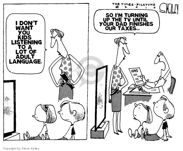 Steve Kelley  Steve Kelley's Editorial Cartoons 2010-04-06 tax form