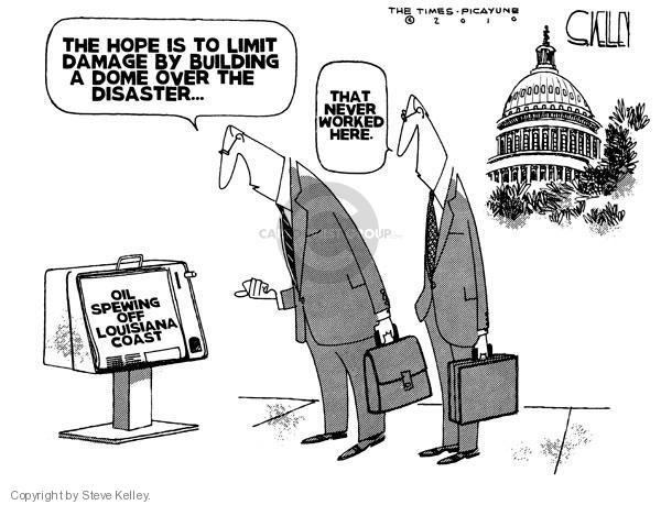 Steve Kelley  Steve Kelley's Editorial Cartoons 2010-04-30 Hurricane Katrina aftermath