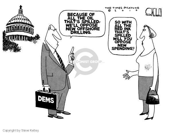 Steve Kelley  Steve Kelley's Editorial Cartoons 2010-05-05 oil drilling