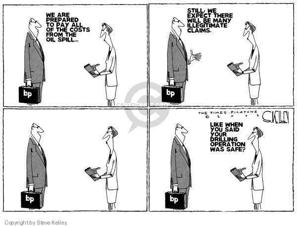Steve Kelley  Steve Kelley's Editorial Cartoons 2010-05-07 oil drilling