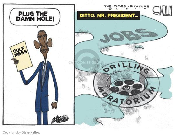 Steve Kelley  Steve Kelley's Editorial Cartoons 2010-06-13 oil drilling