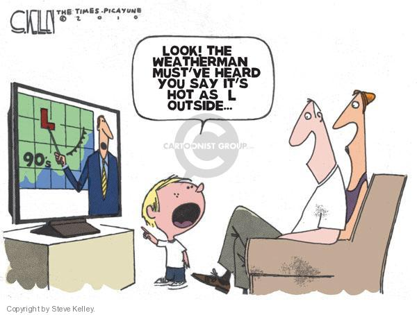 Cartoonist Steve Kelley  Steve Kelley's Editorial Cartoons 2010-06-23 heat