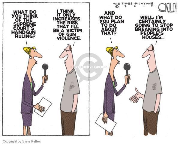 Cartoonist Steve Kelley  Steve Kelley's Editorial Cartoons 2010-06-29 second amendment