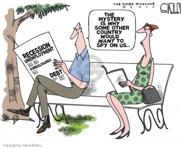 Cartoonist Steve Kelley  Steve Kelley's Editorial Cartoons 2010-07-01 recession