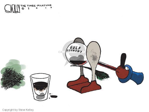 Steve Kelley  Steve Kelley's Editorial Cartoons 2010-07-10 oil drilling