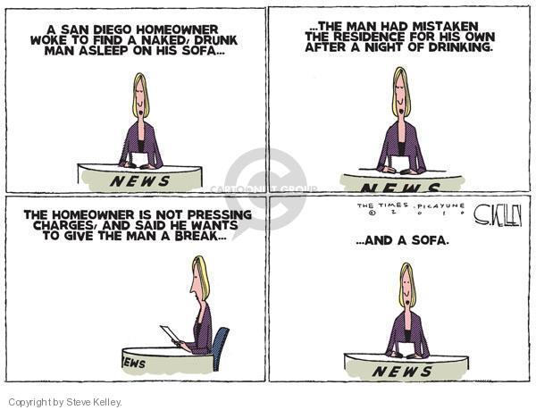 Steve Kelley  Steve Kelley's Editorial Cartoons 2010-07-08 crime