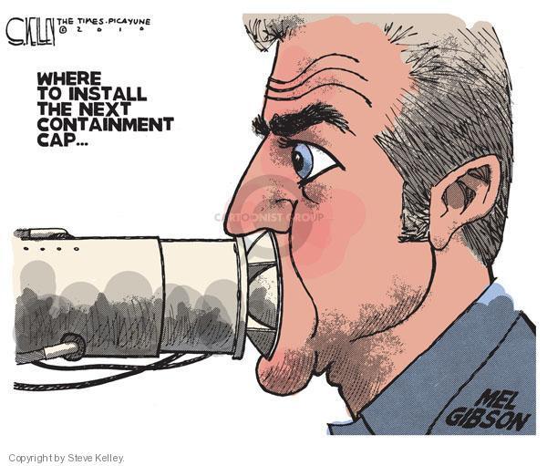 Cartoonist Steve Kelley  Steve Kelley's Editorial Cartoons 2010-07-18 spill