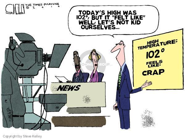 Cartoonist Steve Kelley  Steve Kelley's Editorial Cartoons 2010-08-04 heat wave