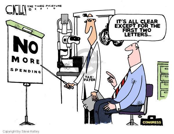 Steve Kelley  Steve Kelley's Editorial Cartoons 2010-08-10 deficit