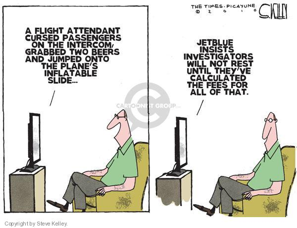 Steve Kelley  Steve Kelley's Editorial Cartoons 2010-08-12 airplane travel