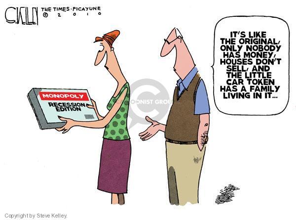 Steve Kelley  Steve Kelley's Editorial Cartoons 2010-08-27 economy