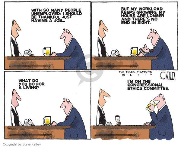Cartoonist Steve Kelley  Steve Kelley's Editorial Cartoons 2010-09-05 unemployment