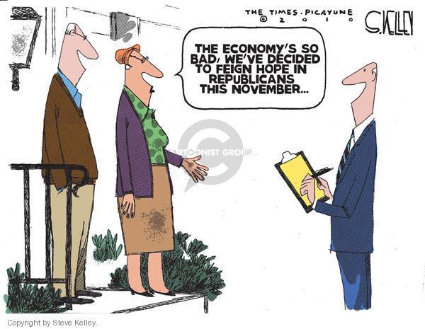 Steve Kelley  Steve Kelley's Editorial Cartoons 2010-09-24 enthusiasm