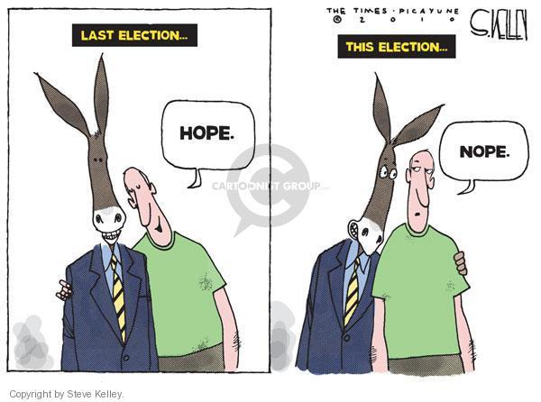 Cartoonist Steve Kelley  Steve Kelley's Editorial Cartoons 2010-10-17 2008 election