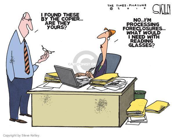 Steve Kelley  Steve Kelley's Editorial Cartoons 2010-10-21 eyeglasses