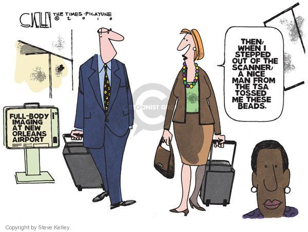 Steve Kelley  Steve Kelley's Editorial Cartoons 2010-10-26 air travel