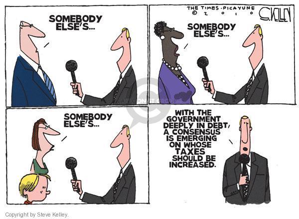 Steve Kelley  Steve Kelley's Editorial Cartoons 2010-11-14 deficit