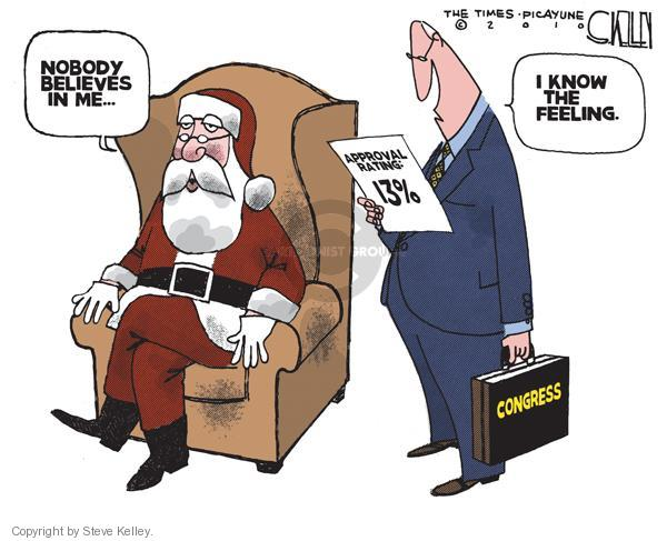 Cartoonist Steve Kelley  Steve Kelley's Editorial Cartoons 2010-12-16 Santa Claus