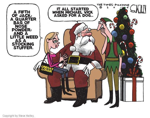 Cartoonist Steve Kelley  Steve Kelley's Editorial Cartoons 2010-12-22 Santa Claus