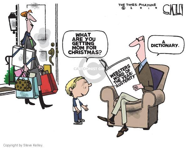 Steve Kelley  Steve Kelley's Editorial Cartoons 2010-12-23 Christmas shopping