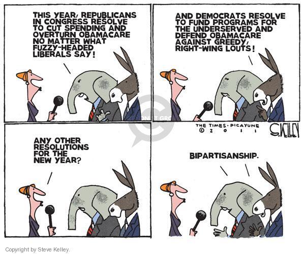 Steve Kelley  Steve Kelley's Editorial Cartoons 2011-01-05 spending cut