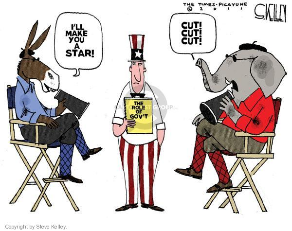 Cartoonist Steve Kelley  Steve Kelley's Editorial Cartoons 2011-01-07 political party