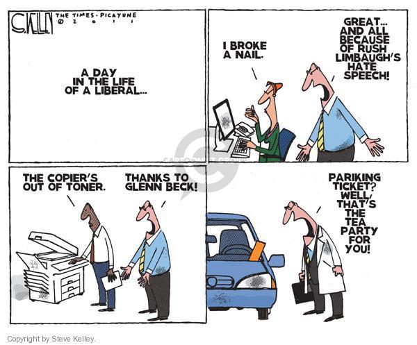 Steve Kelley  Steve Kelley's Editorial Cartoons 2011-01-14 parking