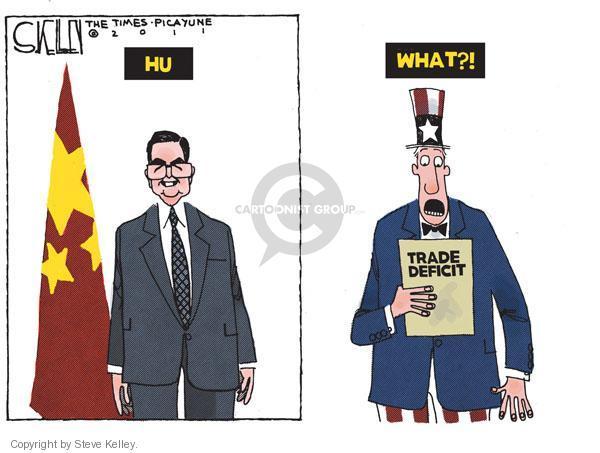 Steve Kelley  Steve Kelley's Editorial Cartoons 2011-01-19 trade