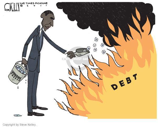Debt. Spending freeze.