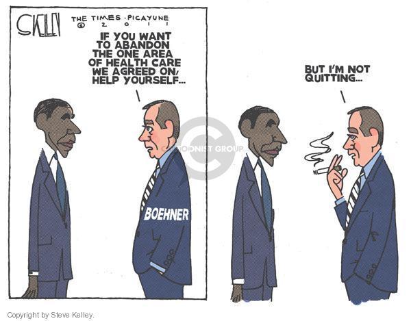 Cartoonist Steve Kelley  Steve Kelley's Editorial Cartoons 2011-02-10 congress health care