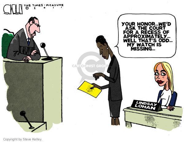 Steve Kelley  Steve Kelley's Editorial Cartoons 2011-02-11 judge